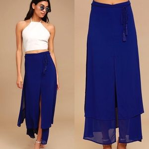 🆕 Royal Blue Midi Skirt